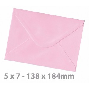 138 x184mm (5 x 7) Candy Floss Pink Envelopes