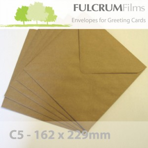 C5 Brown Ribbed Envelopes