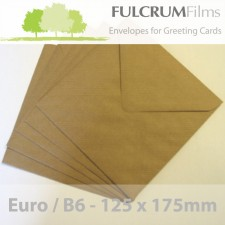 Euro / B6 Brown Ribbed Envelopes