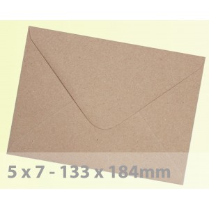 5 x 7 Brown Fleck Kraft Envelopes