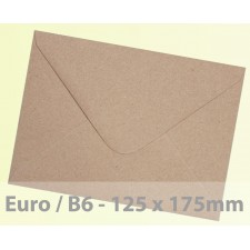 Euro / B6 Brown Fleck Kraft Envelopes