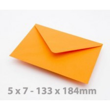 5 x 7 Orange Envelopes
