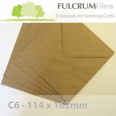 C6 Brown Ribbed Envelopes