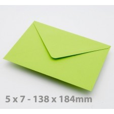 5 x 7 Bright Green Envelopes