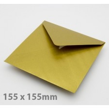 Large Square (155mm) Gold Envelopes