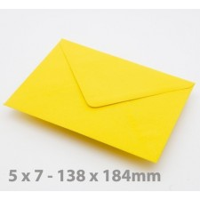 5 x 7 Harvest Yellow Envelopes