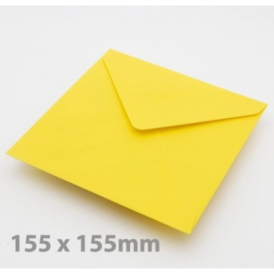 Large Square (155mm) Harvest Yellow Envelopes