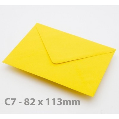 C7 Harvest Yellow Envelopes