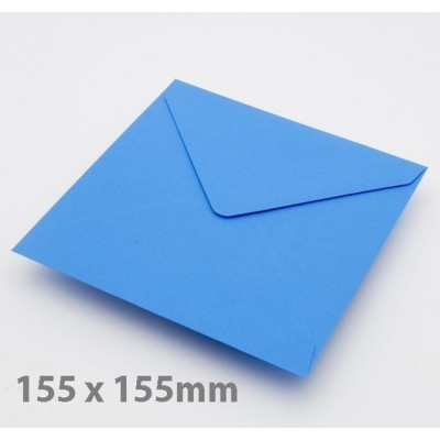Large Square Kingfisher Blue Envelopes