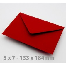 5 x 7 Crimson Red Envelopes