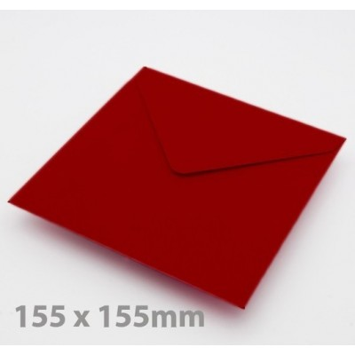 Large Square Crimson Red Envelopes
