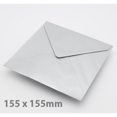 Large Square (155mm) Silver Envelopes