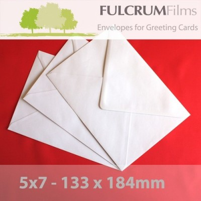 5 x 7 White Envelopes 100gsm