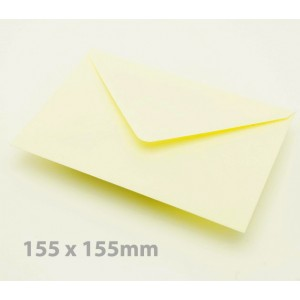 155 x 155mm Cream Envelopes