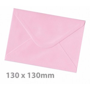 130 x130mm Candy Floss Pink Envelopes