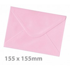 155 x155mm Candy Floss Pink Envelopes