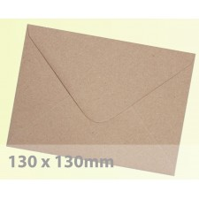 Small Square (130mm) Brown Fleck Kraft Envelopes