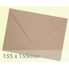 Large Square (155mm) Brown Fleck Kraft Envelopes