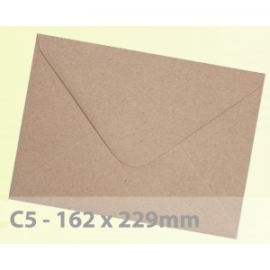 C5 Brown Fleck Kraft Envelopes