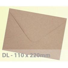 DL Brown Ribbed Envelopes