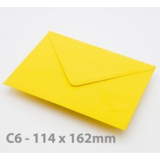 C6 Harvest Yellow Envelopes
