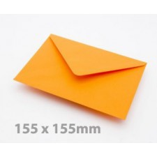 Large Square (155mm) Orange Envelopes