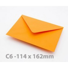 C6 Orange Envelopes