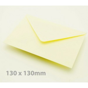 130 x 130mm Cream Envelopes