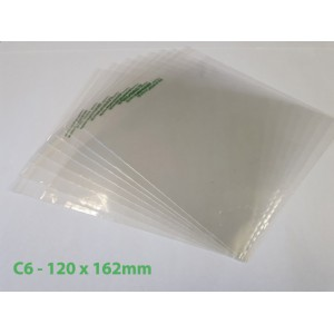 Compostable / Biodegradable Bag in Nativia PLA with PLA Self-Seal Tape