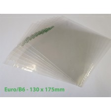 Compostable PLA Bags Euro / B6  Size 130 x 175mm