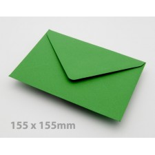 Large Square (155mm) Meadow Green Envelopes