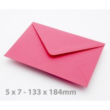 5 x 7 Fuchsia Envelopes