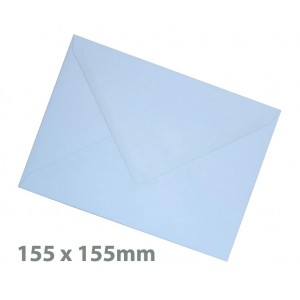 155 x155mm Baby Blue Envelopes