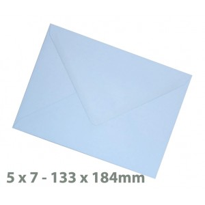 138 x184mm (5 x 7) Baby Blue Envelopes