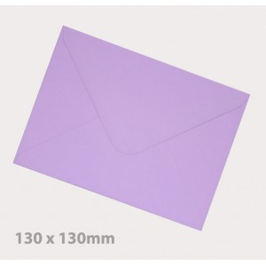 130 x 130mm Lavender Envelopes