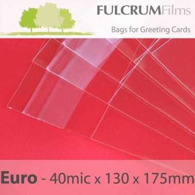 Premium Cello Bags Euro Size - 130 x 175mm