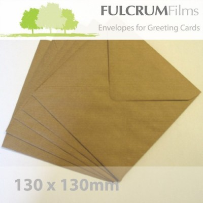 Small Square (130mm) Brown Ribbed Envelopes