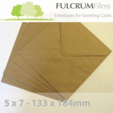 5 x 7 Brown Ribbed Envelopes