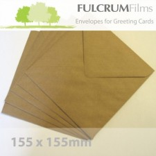 Large Square (155mm) Brown Ribbed Envelopes