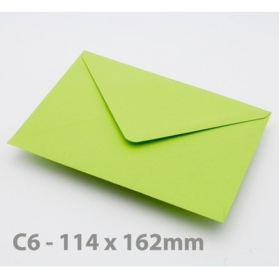 C6 Bright Green Envelopes