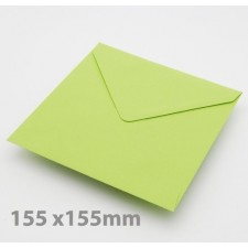 Large Square (155mm) Bright Green Envelopes