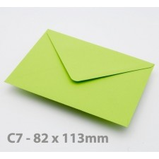 C7 Bright Green Envelopes