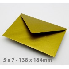 5 x 7 Gold Envelopes