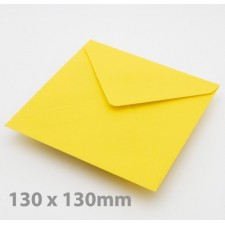 Small Square (130mm)  Harvest Yellow Envelopes