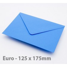 Euro / B6 Kingfisher Blue Envelopes