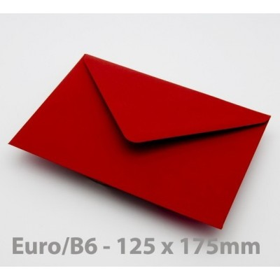 Euro / B6 Crimson Red Envelopes