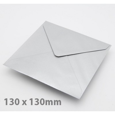Small Square (130mm) Silver Envelopes