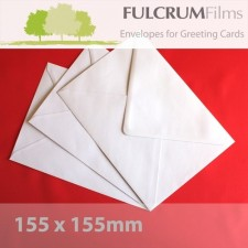 Large Square (155mm) White Envelopes 100gsm